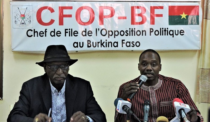 Chef de file de l'Opposition politique au Burkina Faso : CFP/BF